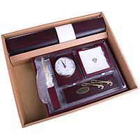 Набор настольный подарочный Delucci 6 предметов, красное дерево, часы, фото 9
