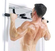 Тренажер-турник в дверной проем «Iron Gym II» + поддерживающие ремни, фото 3