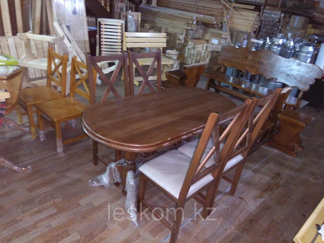 Комплект стол +4 стула из массива сосны