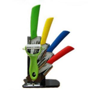 Набор разноцветных керамических ножей