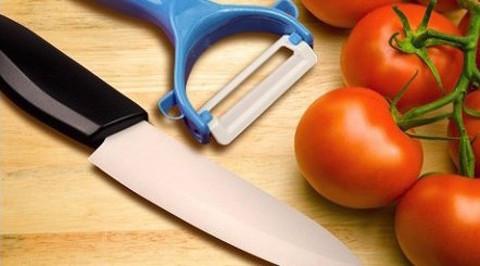 Набор нож+овощечистка керамические