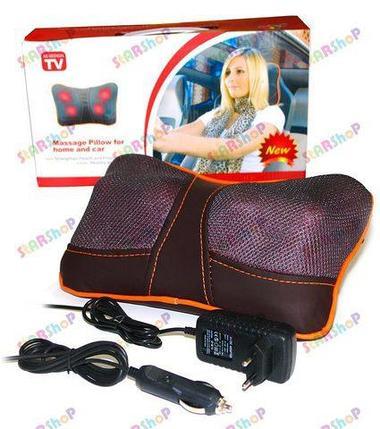 Массажная роликовая подушка для дома и авто, фото 2