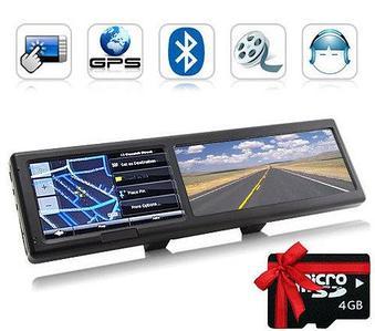Зеркало заднего вида с GPS-навигатором и громкой связью