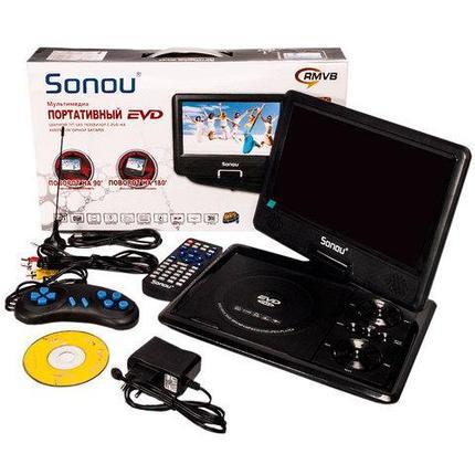 Портативный DVD-плеер Sonou 10,8 дюймов на аккумуляторной батарее, фото 2