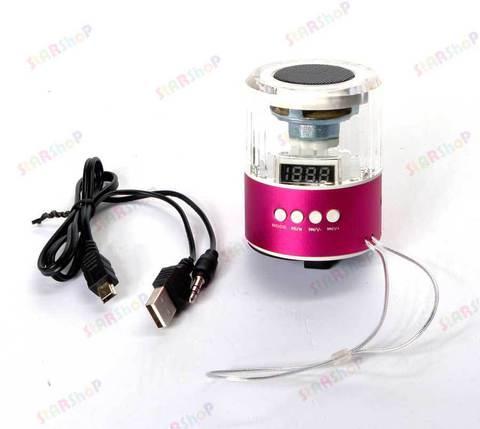 Цифровой портативный динамик Mini Speaker в форме бочки