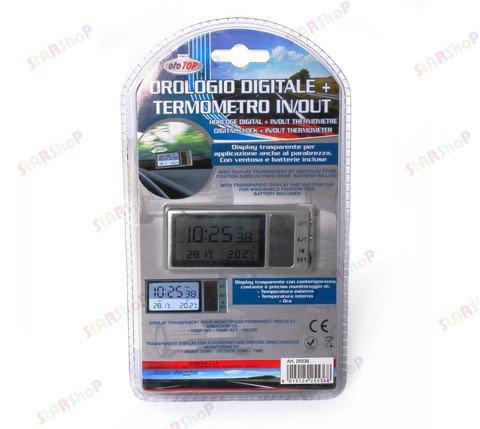 Часы - термометр на присоске для автомобиля, фото 2