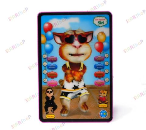 Интерактивная 3D игрушка - маленький планшет Кот-болтун