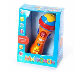 Микрофон музыкальный со звукововыми и световыми эффектами