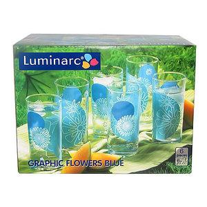 Набор стаканов Luminarc Graphic Flowers Blue D2266