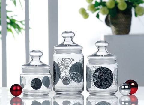 Набор банок для сыпучих продуктов Luminarc Constellation Black H9959, фото 2