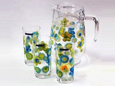 Набор для напитков Luminarc Bubbles Flowers Anis D3181