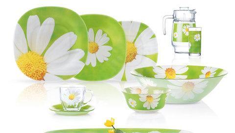 Сервиз столовый Luminarc Paquerette Green E9308/G8910 [38, 46 предметов] (46 предметов)