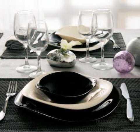 Сервиз столовый Luminarc Volare White&Black H4528