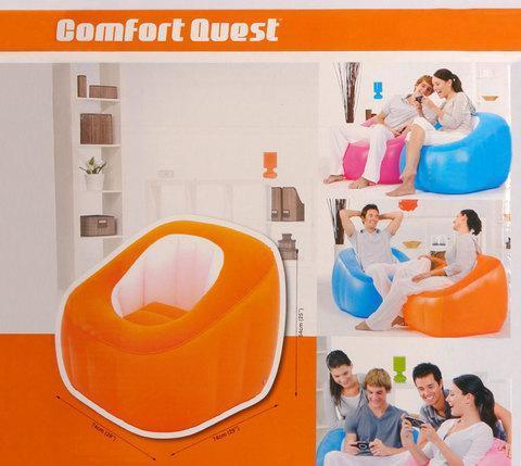 Кресло надувное Bestway «Комфорт» 75046 (Розовый), фото 2