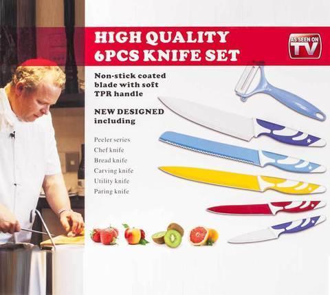 Набор кухонных ножей с декоративным рисунком, фото 2