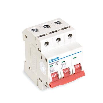 Автоматический выключатель реечный Hyundai HiBD63-N 3P 25А, 230/400 В, Кол-во полюсов: 3, Предел отключения: 6