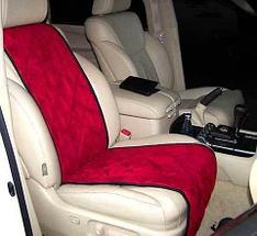 Чехлы-накидки для автомобильного сидения Алькантара (Серо-голубой), фото 2