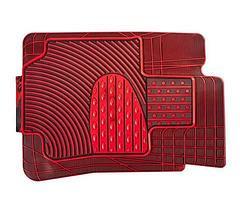 Набор универсальных ковриков в автомобиль (Черно-Красный), фото 3