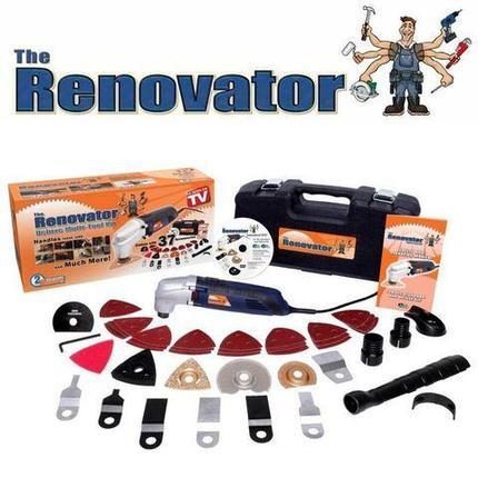 Универсальный электроинструмент Renovator SAW + набор из 37 аксессуаров, фото 2