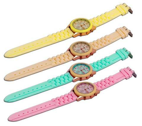 Часы наручные женские GENEVA (Желтый), фото 2