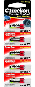 Батарейка Camelion A27-BP5 12 В, Упакова: Блистер 5 шт., Аналоги: A27, Тип батареи: Щелочная (Алкалиновая), Со