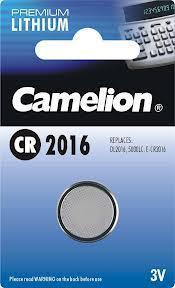 Батарейка Camelion CR2016-BP1 3 В, Упакова: Блистер 1 шт., Аналоги: CR2016\5000LC, Тип батареи: Литий-ионный