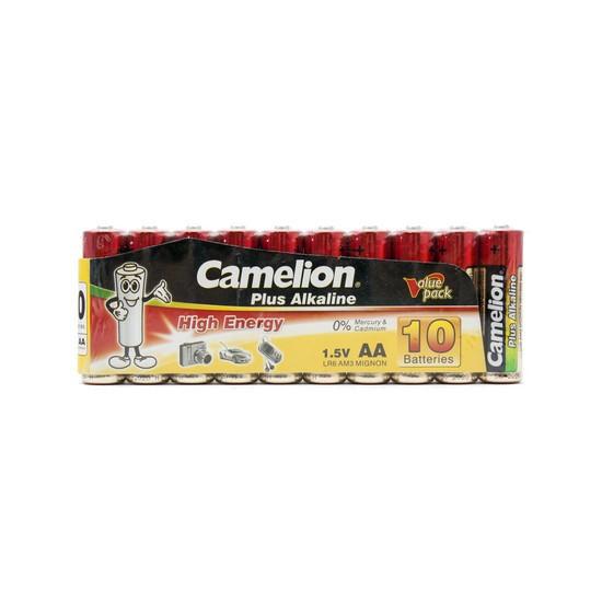 Батарейка Camelion LR6-SP10-DA 1,5 В 10 шт., Аналоги: LR6\15A\AA\А316, Тип батареи: Щелочная (Алкалиновая), Со