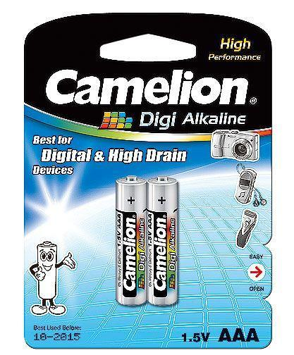 Батарейка Camelion LR03-BP2DG 1,5 В, Упакова: Блистер 2 шт., Аналоги: LR03\24A\AAA\А286, Тип батареи: Щелочная