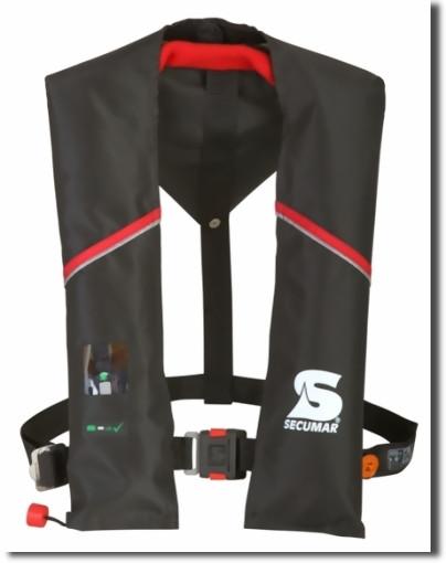Спасательный жилет SECUMAR ULTRA AX AUTO HARNESS 150N (>50кГ)(баллон CO²-32г.)(черный) R 30382