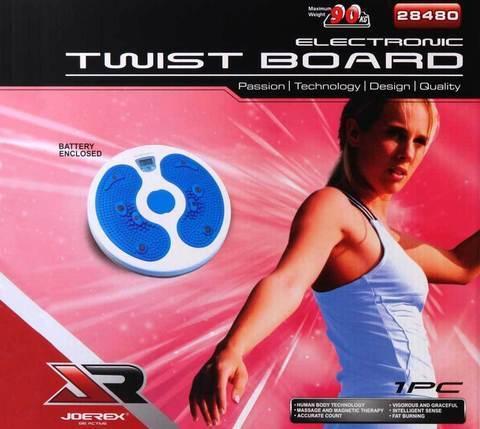 Диск-тренажер вращающийся JOEREX Twist Board с микрокомпьютером, фото 2