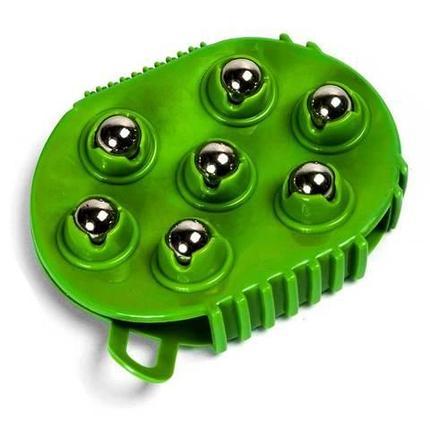 Массажная антицеллюлитная перчатка Nice Fit с массажными шариками, фото 2
