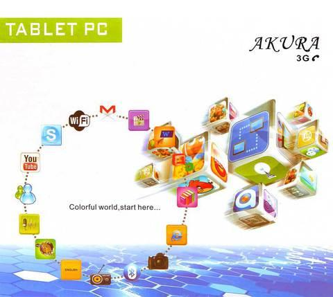 "Планшет AKURA 7"", 3G, Wi-Fi, Android 4"