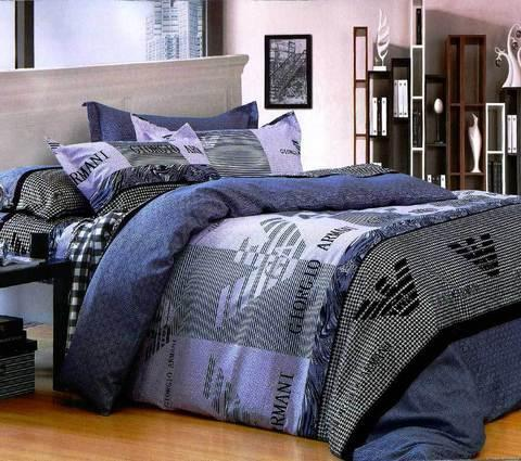 """Двуспальный комплект постельного белья """"Лиора Giorgio Armani"""" HD, фото 2"""