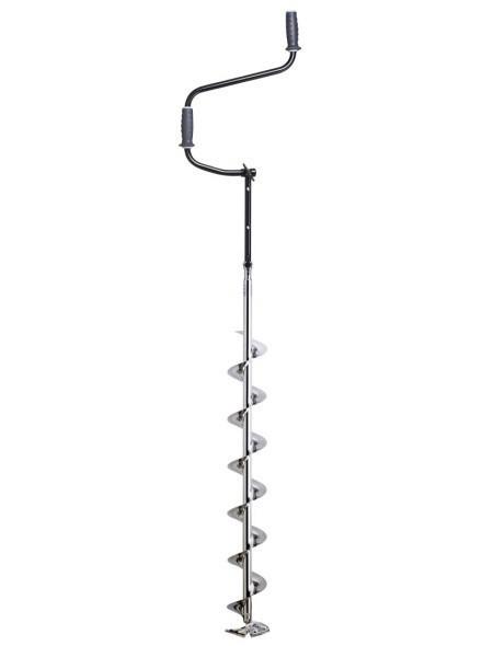 Ледобур складной Mora Chrome 130, Рукоять: Со встроенным удлинителем, Диаметр: 130 мм, Толщина льда: 1620 мм,