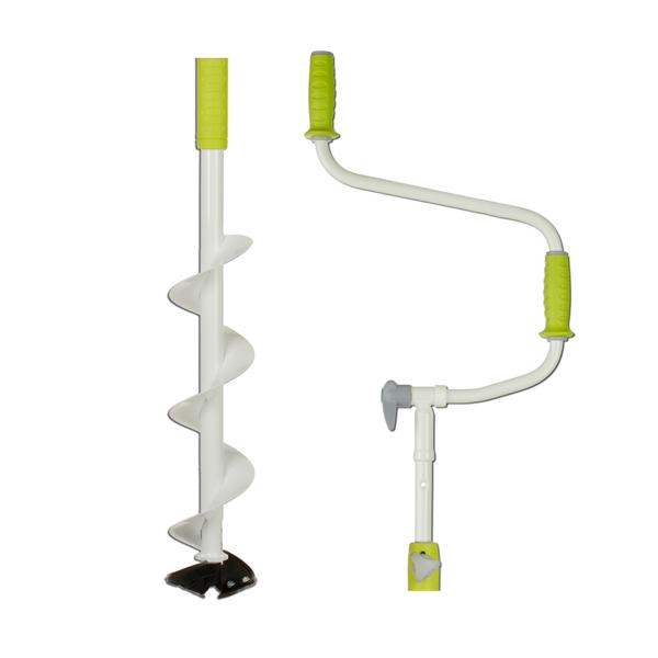 Ледобур складной Mora Nova System 160, Рукоять: Со встроенным удлинителем, Диаметр: 160 мм, Толщина льда: 900