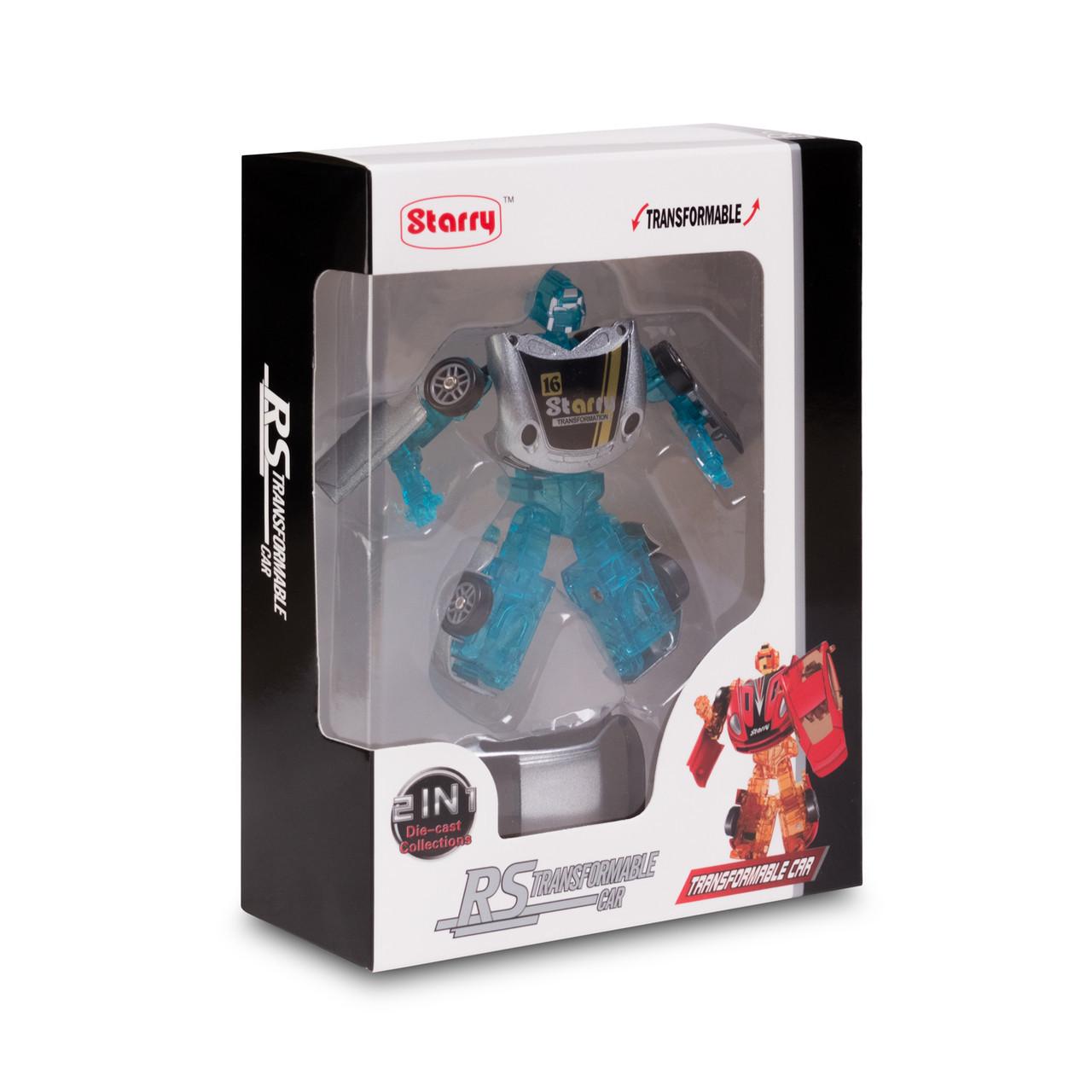 Игрушка трансформер Rastar RS Transformable car S, Трансформации: Робот, автомобиль, Цвет: Серебристый, (66230