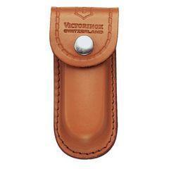 Чехол для ножа Victorinox POUCH 4.0525, Материал: Кожа, Крепление: На пояс, Застежка: Кнопка, Цвет: Светло-кор