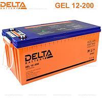 Аккумуляторная батарея Delta GEL 12-200, фото 1