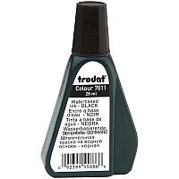 Штемпельная краска TRODAT, чёрная, 28 мл, на водной основе, 7011ч