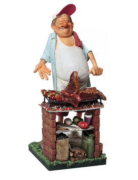 Статуэтка декоративная Forchino Мистер Барбекю, Высота: 430 мм, Материал: Полистоун, Цвет: Разноцветный, (FO85