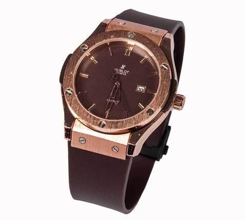 Часы наручные мужские реплика Hublot Geneve Big Bang (Бронза, коричневый ремешок), фото 2