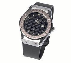 Часы наручные мужские реплика Hublot Geneve Big Bang (Бронза, коричневый ремешок), фото 3
