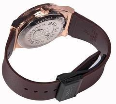 Часы наручные мужские реплика Hublot Geneve Big Bang (Бронза, черный ремешок), фото 2