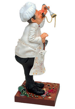 Статуэтка декоративная Forchino Повар, Высота: 390 мм, Материал: Полистоун, Цвет: Разноцветный, (FO85500)