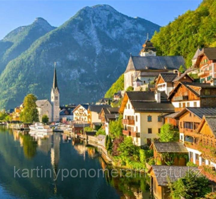 "Картина по номерам ""Швейцарское озеро Бриенц"""