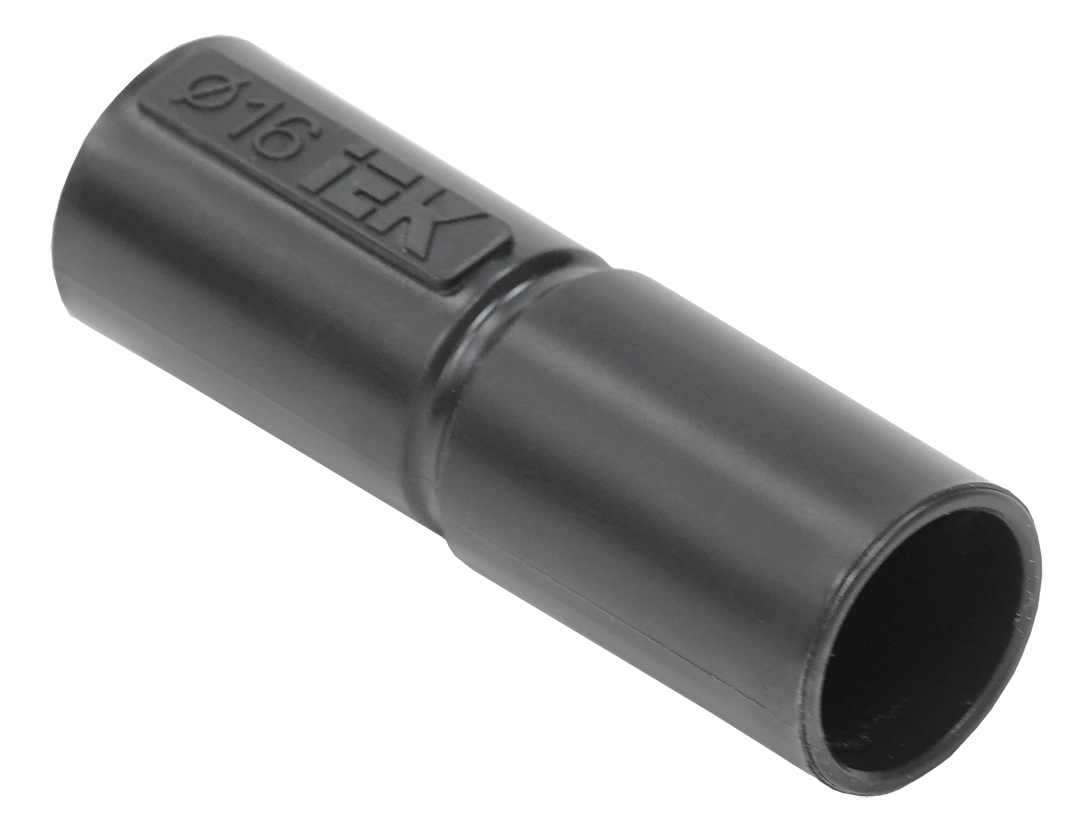 Муфта труба-труба GI16G IEK черный (5 шт/комп)