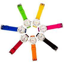 Часы наручные реплика Michael Kors MK-2491 на силиконовом ремешке (Желтый), фото 2