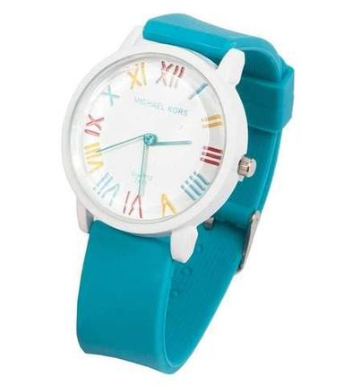 Часы наручные реплика Michael Kors MK-2491 на силиконовом ремешке (Бирюзовый), фото 2
