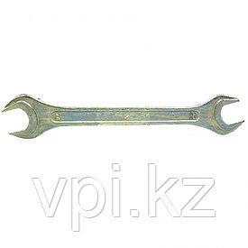Рожковый ключ двусторонний, оцинкованный 22*24мм, КЗСМИ