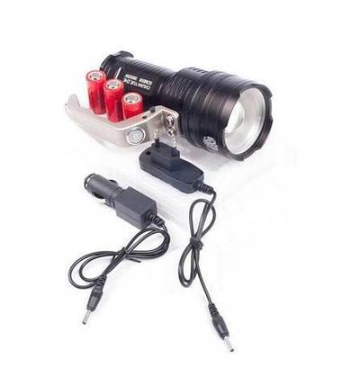 Фонарь аккумуляторный ручной CHUAN YUE ZHE SDM006 с зарядкой от сети и автомобиля, фото 2
